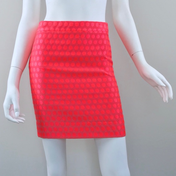 1ab1c5949 J. Crew Factory Skirts | J Crew Pencil Skirt In Neon Pink Polka Dot ...